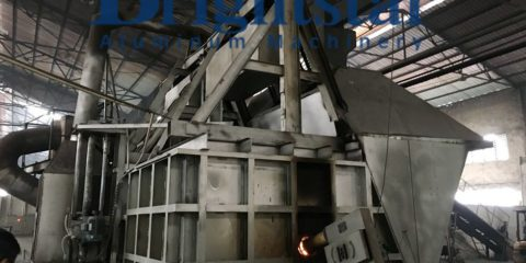 10T double chamber melting furnace