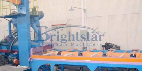 Aluminum profile shotblasting machine