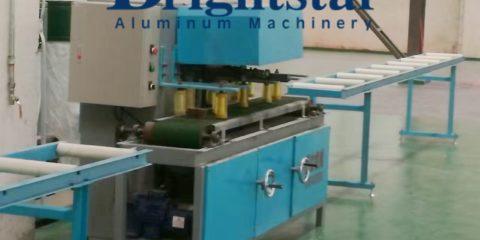 Aluminum extrusion brushing machine