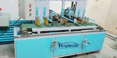 Double shaft aluminum brushing machine